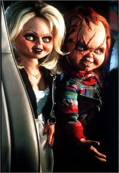 Films such as Bride of Chucky have huge child audiences, according to researchers.
