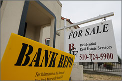 Some foreclosure scammers promise to negotiate with a lender for a fee, then just take the money and run. Here, a bank repossession home is for sale in Vallejo, California.