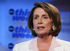 Speaker of the House Nancy Pelosi appeared on ABC's This Week Sunday. Pelosi said she hopes Rep. Chet Edwards of Texas will be Barack Obama's running mate.