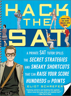 The cover of Eliot Schrefer's new SAT prep book.