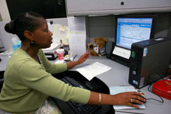 Cynthia Stanton, a technical information specialist, handles more than 100 FBI tips a day and says culling through all the false alarms is worth it. The bureau expects to receive its 2 millionth tip this month.