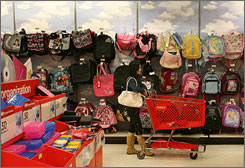 A Target customer shops for back to school supplies at a Target store August 13, 2008, in Daly City, California.