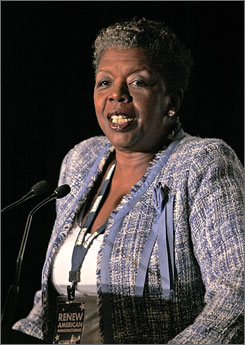 Rep. Stephanie Tubbs Jones, D-Ohio, died Wednesday after suffering a brain hemorrhage caused by an aneurysm, according to the Cleveland Clinic. Here, Ohio's first black congresswoman is seen speaking at a forum on renewing American manufacturing in July 2007.