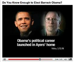 A new ad paid for by the American Issues Project talks about the relationship between Bill Ayers and Barack Obama.
