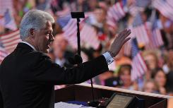 Calling Sen. Barack Obama ready for the White House, former president Bill Clinton addresses the Democratic National Convention in Denver on Wednesday,