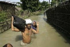About 1.2 million people have been left homeless and scores killed in India's Bihar state in the two weeks since the monsoon-swollen Kosi river in neighboring Nepal burst its banks, dramatically changing course and spilling billions of gallons of water into the plains of northern India.