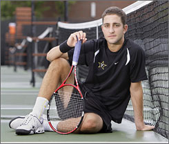 "Vanderbilt University tennis player Nick Cromydas got financial support to study in Barcelona. ""I didn't bring a tennis racket. I didn't bring a pair of tennis shoes,"" he says."