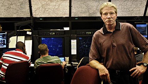 John Werth visits the FAA center in Cleveland where he monitored Flight 93 on Sept. 11, 2001.