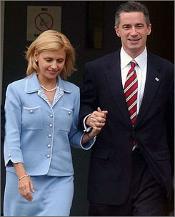 Dina Matos stood by her then-husband, New Jersey former governor James McGreevey, while he announced his resignation after acknowledging an extramarital affair with another man in 2004.