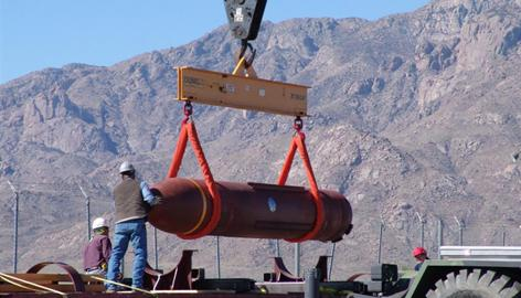 The Boeing-developed Massive Ordnance Penetrator is a 30,000-pound bomb designed to burrow deep beneath the earth and detonate more than 2 tons of explosives.