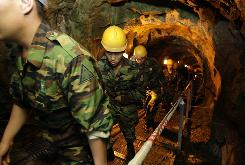 South Korean soldiers visit InfiltrationTunnel No. 2 for security sightseeing against North Korea near the demilitarized zone  that has separated the two Koreas since the Korean War, in Cheorwon, northeast of Seoul, South Korea.
