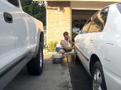 "Vancouver, Wash. resident Pat Thompson washes his car in his driveway about once a week. He calls himself an environmentalist but says a ban on driveway washing is ""getting a little bit too far."""