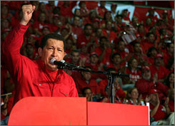 During a rally of the Venezuelan United Socialist Party in Caracas on Sunday, Venezuelan President Hugo Chavez assured that the country is interested in cooperating with Russia in the development of nuclear energy with peace purposes.