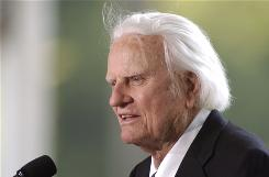 Evangelist Billy Graham speaks at the dedication of the Billy Graham Library in Charlotte, May 31, 2007.