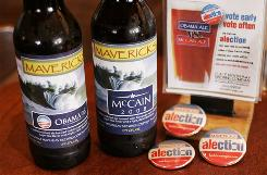 "The Half Moon Bay Brewing Company restaurant has invited drinkers of its beer to choose between an Obama and McCain ale in the 2008 ""alection."""