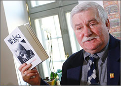 A new autobiography by former Polish President Lech Walesa nixes allegations that he was an agent for the communist secret police.