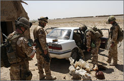 Soldiers seize about seventy kilograms of opium hidden in a car during strike operation in Afghanistan.