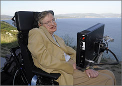 Noted cosmologist Stephen Hawking, seen here during a visit to Cape Finisterre, Spain, on Sept. 25, is retiring from his post at England's Cambridge University next year.
