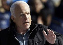 Republican presidential candidate Sen. John McCain, R-Ariz., speaks at a rally at the New Mexico Fair Grounds in Albuquerque