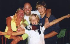 In this undated file photo provided by the Browning family, Tamara, left, and John Browning, center, are shown with their children Nicholas, top right, Benjamin, left, and Gregory, right. Nicholas Browning pleaded guilty on Monday to the murders of his father, mother and two younger brothers. In exchange for the plea, prosecutors said they will seek a maximum of two consecutive and two concurrent life sentences, meaning Browning could eventually be released on parole.