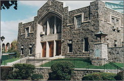 Fordham University in New York City is coming under attack for giving an award to Supreme Court Justice Stephen Breyer, a supporter of abortion rights. Here, the school's Rose Hill Gym is seen.
