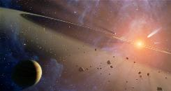 Gaps in Epsilon Eridani's dusty comet and asteroid belts suggest that an Earth-like planet could be hiding past the inner asteroid belt.