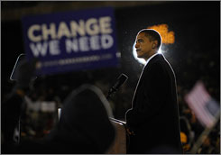 Experts say the recently thwarted assassination plot against Democratic presidential candidate Barack Obama, seen here campaigning in Norfolk, Va., on Tuesday, distracts from racial progress America has made.