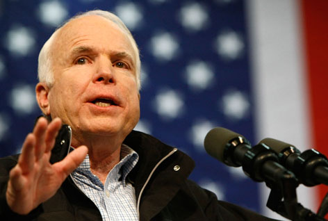 In an interview with USA TODAY, John McCain was defiant toward the polls that show him trailing Democrat Barack Obama.