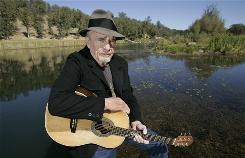Singer Merle Haggard at his ranch at Palo Cedro, Calif., in 2007.