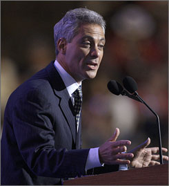 Rahm Emanuel, a Democratic representative from Illinois, worked in investment banking and served on the board of mortgage company Freddie Mac.