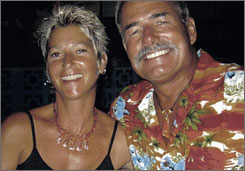 This undated image provided by Ryan Hawks shows Tom and Jackie Hawks, who were allegedly bound to the anchor of their yacht and tossed overboard four years ago.