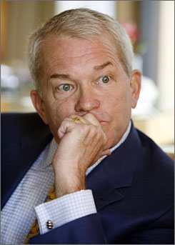 Former congressman Mark Foley, R-Fla., is shown being interviewed Monday in New York.