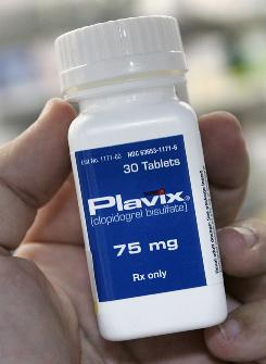 The blood thinner Plavix should not be taken with heartburn medications, such as Nexium or Protonix.