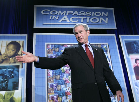 President Bush established the White House Office of Faith-Based and Community Initiatives in 2001.
