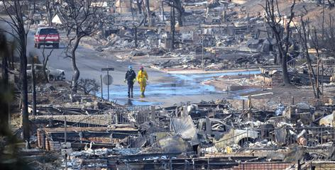 In the Oakridge Mobile Home Park, 484 mostly mobile homes were burned in a space of 200 acres.