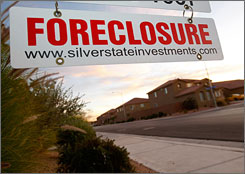 There were 2.6 million foreclosures from Jan. 1 through Oct. 31, a 45% jump from the same period last year.