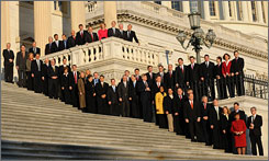 The incoming freshmen and women ofthe 11th Congress gathered on the steps of the U.S. Capitol in Washington Monday for a group picture.