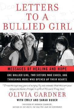 The cover of the book shows Emily and Sarah Buder and Olivia Gardner.