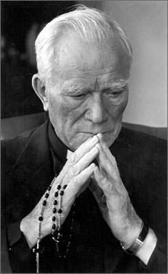 Rev, Patrick Peyton, known as the Rosary Priest, is going to be considered for sainthood. Peyton used radio and television programming to encourage families to pray the rosary daily.