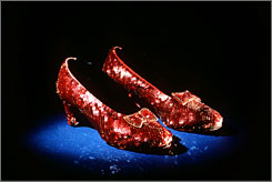 The ruby slippers worn by Judy Garland in the movie The Wizard of Ozare among the items the public will be able to see at the renovated and reopened National Museum of American History in Washington.