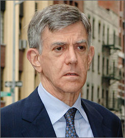A jury has convicted philanthropist Alberto Vilar, seen here in July 2005 arriving at federal court in New York, of fraud.