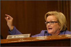 Sen. Claire McCaskill defended John Speckhals, who used to be a drug counselor at General Leonard Wood Army Community Hospital, after he reported deficiencies at the base.