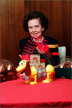 Betty James, co-founder of James Industires, makers of Slinky, died Thursday at age 90.