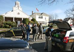 "Police in Clifton, N.J., investigate a triple shooting at St. Thomas Syrian Orthodox Knanaya Church on Sunday. Two people were killed, while a third victim is listed in ""extremely critical"" condition."