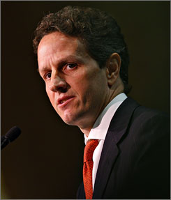 Geithner has been president of the Federal Reserve Bank of New York for the past five years.