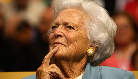 Former first lady Barbara Bush attends day two of the Republican National Convention on Sept. 2 in St. Paul, Minnesota. Barbara Bush was taken to the emergency room at Methodist Hospital in Houston on Tuesday for tests after she had reported feeling ill for several days.