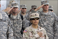 U.S. troops pay tribute to those lost in the Sept. 11 attacks at the Bagram airbase north of Kabul, Afghanistan.