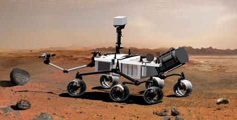 NASA's mobile Mars Science Laboratory, depicted in this artist's rendering, is designed to investigate the planet's past or present ability to sustain microbial life.