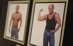 """Photos of Dr. Jeffry Life hang on the wall in his office at the Cenegenics Medical Institute in Las Vegas. The clinic specializes in """"age management."""""""