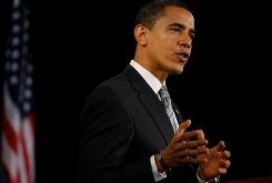"""President-elect Barack Obama speaks during a news conference in Chicago on Dec. 7. """"His social status calls into question our stereotypes about race. It makes us question who is white and who is black and how do we know?"""" says sociologist Aliya Saperstein."""